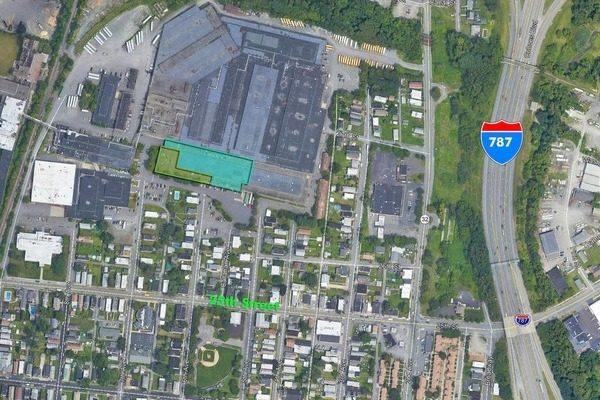 map of Watervliet NY showing warehouse space available at 2600 7th ave