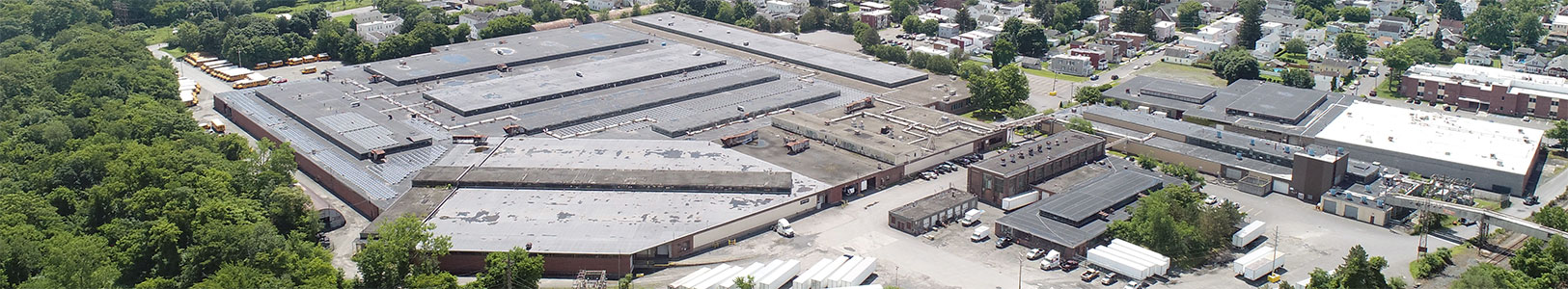 Aerial photo of warehouse and loading area